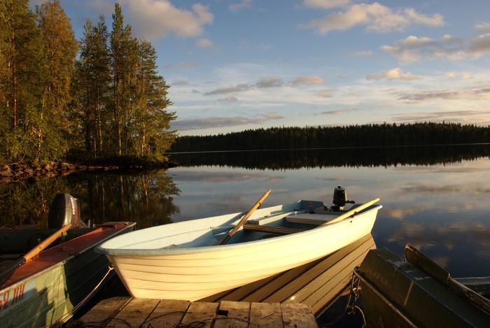 Прокат лодок на турбазе Талвисъярви Отдых в Карелии летом и осенью